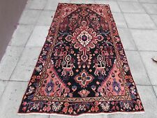 Old Hand Made Traditional Persian Oriental Wool Blue Large Rug 250x130cm