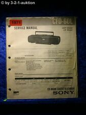 Sony Service Manual CFD 60L Cassette Recorder (#1971)