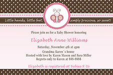 30 Butterfly Invitation Cards Baby Girl Shower Birthday Party Personalized Pink