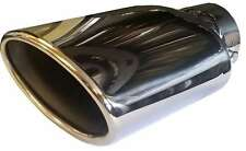 Jaguar XJ 125X200MM OVAL EXHAUST TIP TAIL PIPE PIECE CHROME SCREW CLIP ON
