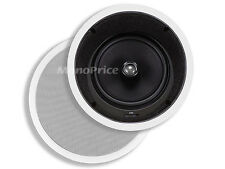 "Monoprice 8"" In-Ceiling Speakers (Pair) - w/15 Degree Angled Woofer 4929 NEW"