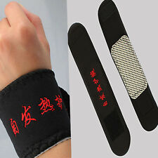 2 Pcs Magnetic Therapy Wrist Brace Support Belt Spontaneous Heating Strap Band