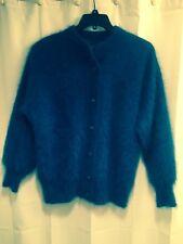 BLUE Fully Fashion ANGORA Venesha Like Fluffy CARDIGAN Jacket SWEATER Coat OS