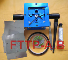 90mm BGA Reballing Station 8 pcs 0.3 - 0.76mm universal stencils templates Kits