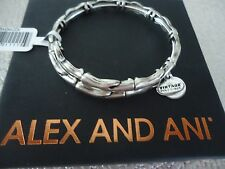 Alex and Ani WATER METAL WRAP Rafaelian Silver Bangle New  W/Tag Card & Box