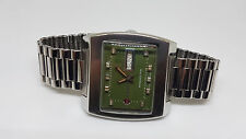 RARE VINTAGE 70'S RADO MANHATTAN GREEN DIAL DAYDATE AUTO MAN'S WATCH
