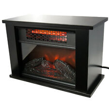 Life Pro Mini Fireplace Infrared Quartz Electric Space Heater Energy Efficient