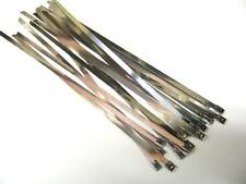 20 x STAINLESS STEEL CABLE TIES - WIDE Size 7.6mm x 360mm (Exhaust Heat Wrap)