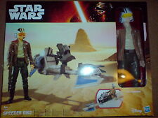 Star Wars The Force despierta 11 pulgadas Poe Dameron Con Speeder Bike B3918 Nuevo Raro