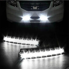 Car Light 8LED DRL Fog Driving Daylight Daytime Running LED White Head Lamp