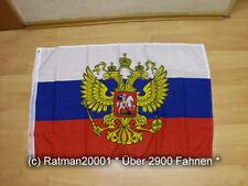 Fahnen Flagge Russland mit Wappen - 60 x 90 cm