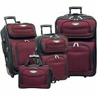 Traveler's Select Amsterdam 4-piece Luggage Set - RED