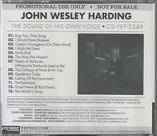 JOHN WESLEY HARDING - The Sound Of His Own Voice - RARE 2011 UK CD - FREE UK P+P