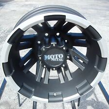 "17"" BLACK MOTO METAL MO963 DUALLY WHEELS RIMS CHEVY SILVERADO GMC DODGE RAM 3500"
