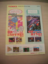 OFF THE WALL MARBLE MADNESS PC ENGINE TENGEN JAPAN HANDBILL FLYER CHIRASHI