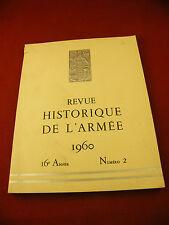 Revue Historique de l'Armée 1960 Numéro 2 Drago