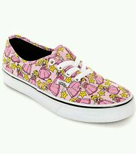 NEW Nintendo and Vans Authentic Princess Peach Skate Shoe Pink Womens Size 9