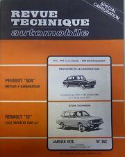 NEUVE DE STOCK !!!!!    Revue technique RENAULT 12 1300 CM3  RTA N° 352 1976
