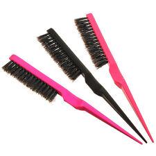 1X Peigne Brosse à Cheveux Lisseur Poils De Sanglier Coiffure Salon Hair Comb