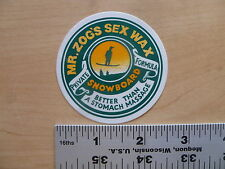 Sex Wax Snowboard Wax Green Logo Sticker Decal