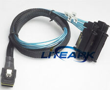 Mini SAS 36P SFF-8087 to (4) SFF-8482 Connectors With SATA Power Cable 3FT 1M