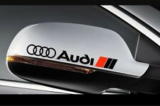 3X Audi Side Mirror Rear View Vinyl Decal stickers A1 A3 A4 A5 A6 A7 A8 TT RS Q5