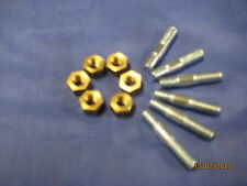 MG   NEW SET OF 6 MGB EXHAUST MANIFOLD STUDS AND BRASS NUTS   ***OC28