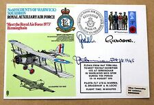 605 SQUADRON 1973 COVER SIGNED BY WW2 PILOT SQUADRON LEADER JIMMY HARRISON