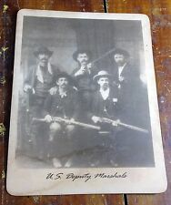 U.S. Deputy Marshals Armed Law Officers Police Group Old West Photo Photograph
