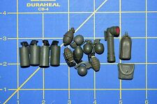 1:6 Military US Green Smoke Grenades Flashlight Pouches Toy (Lot of 15) C-173