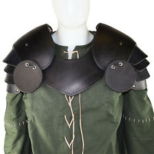 Knight Leather Paudrons w/ Besagews Armour, 13/15 oz Medieval,Cosplay,LARP