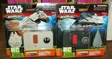 STAR WARS MICRO MACHINES RC MILLENNIUM FALCON & DESTROYER SET OF 2 #sfeb16-101a