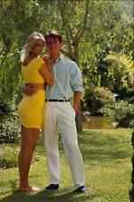 702066 Bernie And Maria In Casual Summer Clothes In The Garden A4 Photo Print