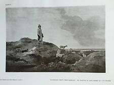Antique Print Plate MOUSEHOLD HEATH NORFOLK Oil Painting JOHN CROME The Studio
