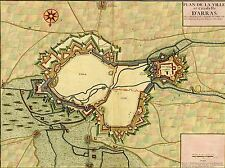 PRINT POSTER MAP OLD VINTAGE ARRAS FRANCE CITADEL CASTLE VILLAGE PLAN LFMP0842