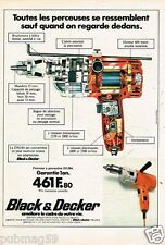 Publicité advertising 1976 Bricolage Outillage Black & Decker perceuse