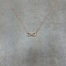 Infinity ROSE GOLD Plated Necklace Gift Limitless Forever Always Love lemniscate