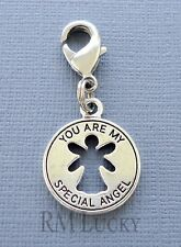YOU ARE MY SPECIAL ANGEL Clip On Charm Fits Link Chain floating locket C215