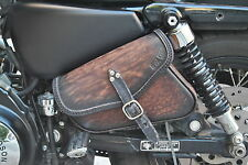 SADDLE BAG FOR HARLEY DAVIDSON SPORTSTER  48, 72 MODELS ITALIAN  LEATHER QUALITY