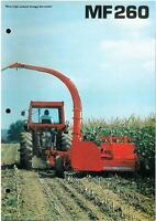 MASSEY FERGUSON MF260 FORAGE HARVESTER MF 260 FORAGER BROCHURE - IB4