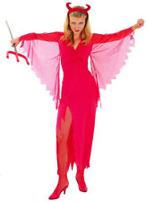 Devil Lady Adult Costume Sexy Red Fancy Halloween Dress Womens Vampire Outfit