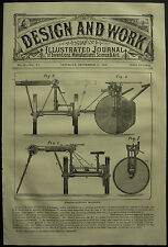 1878 Design & Work Inventions Hedge Clipping Machine J Hornsby Grantham Patent