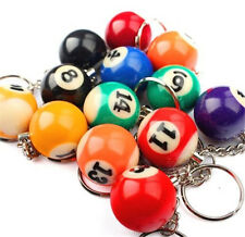 FD4219 Creative Simulation Billiard Ball Pendant Key Ring Key Chain Gift 1pc ☆