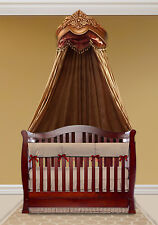 Beautiful Handcrafted Gold Bed Crown - Real Wood - Canopy - Teester