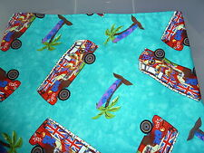 VW T2, bay, split screen  Camper van camper vans, palm trees  curtains (lined)