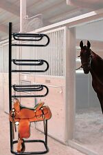 Four Tier Horse Saddle Rack Stand Portable Storage Equestrian Stable Barn New