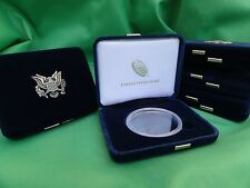 5 Empty American Silver Eagle Deluxe Cases + Capsules Display US Mint -No Coins