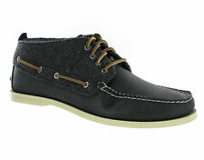 New Men Sperry Top Sider Chukka Black Leather Lace Up Desert Boots Size 12