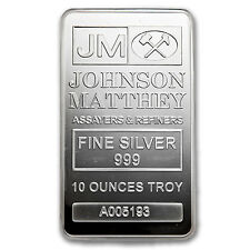 10 oz Silver Bar - Johnson Matthey (New/JM Logo Reverse) - SKU #82900