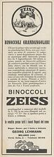 Z3236 Binoccoli Grandangolari ZEISS - Pubblicità d'epoca - 1929 Old advertising